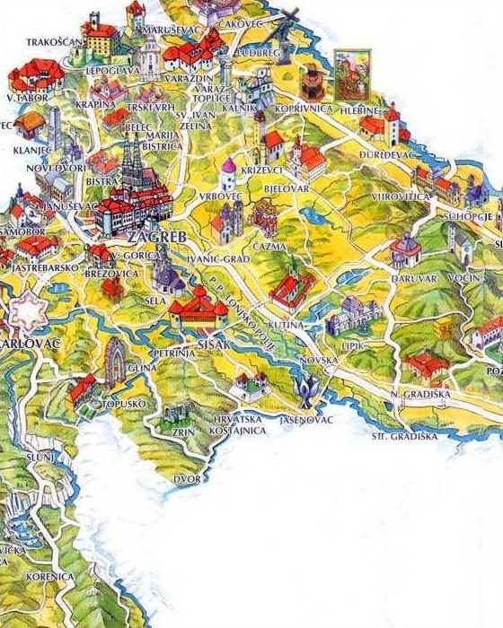 map of croatia. Tourist map of Croatia